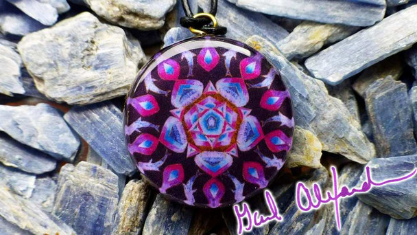 Orgone Pendant, Dolphins and the Soothing Power of Five – Mandala by Gail Alexander
