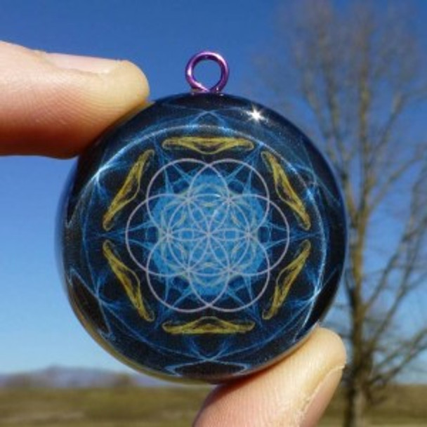 Orgone Pendant, Seed of Life – Powerful Sacred Geometry Healer (Big Size)