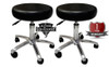 New Deluxe Chiropractic Gas Charged Stool - Qty of Two
