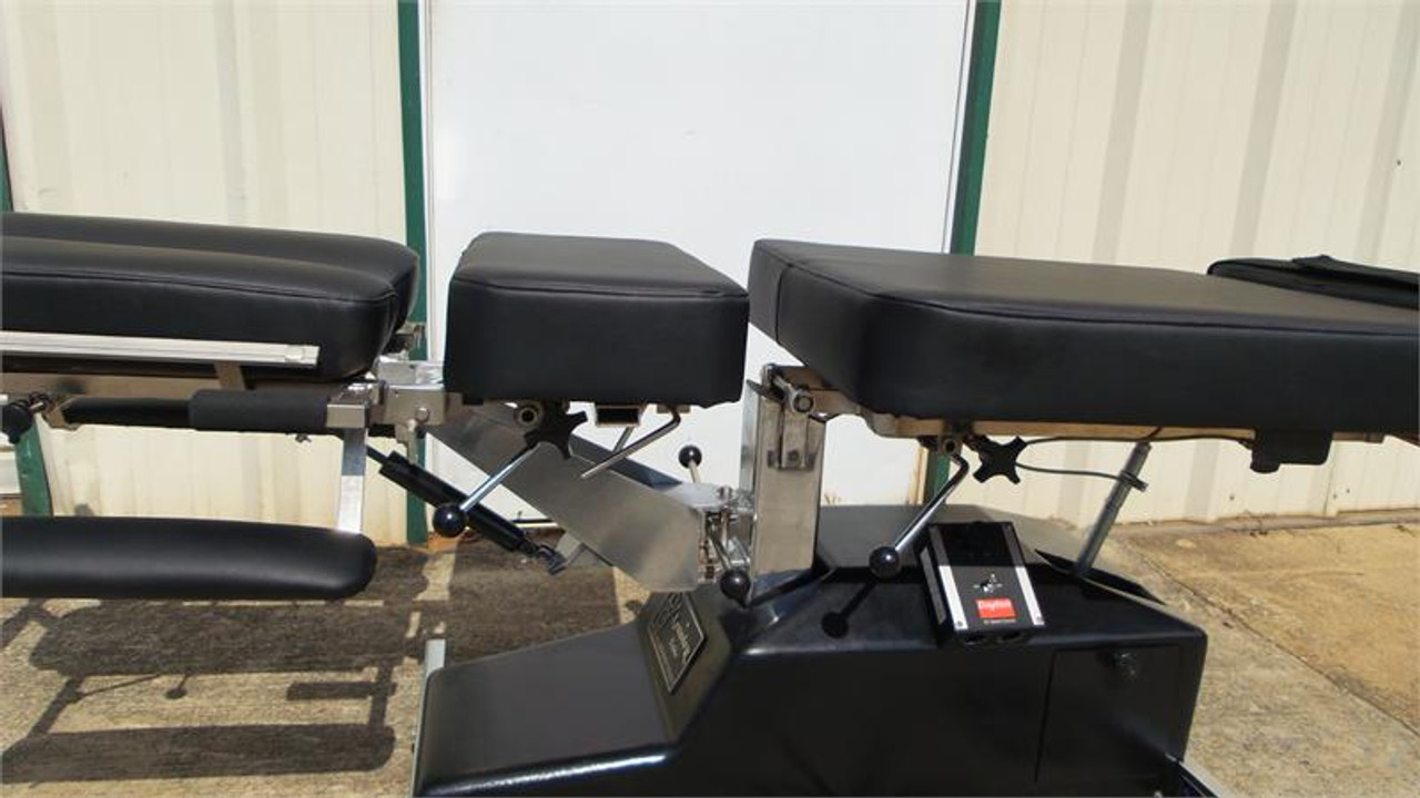 Used Leander Auto Flexion Table Cervical, Chest, ,Pelvic drop,Upgraded EZ change Variable speed control box