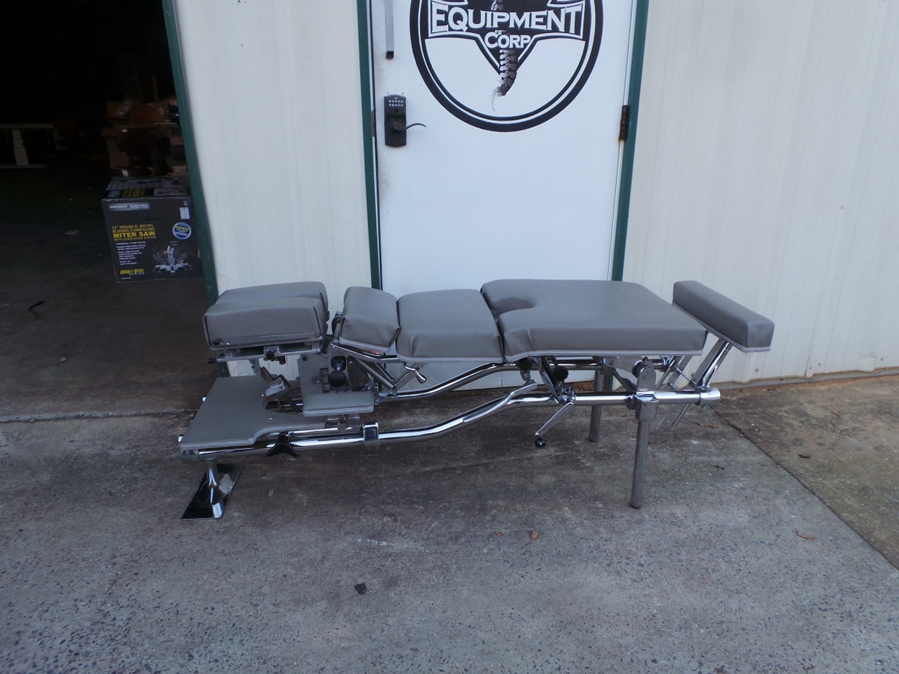 Used Zenith 55F Stationary Table with Cervical & Pelvic Drop