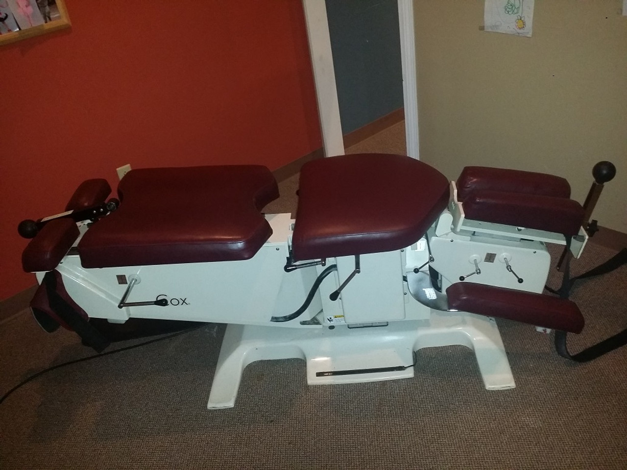 Used Cox 7 Elevation Table Burgundy