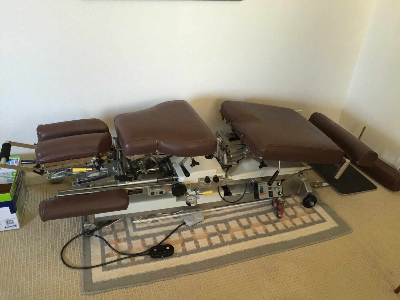 Used Lloyd Galaxy Flexion Hylo  Auto & Manual Flexion Table / Manual  Dorsal , Lumbar Pelvic Drop  with Deluxe Flexion Cervical