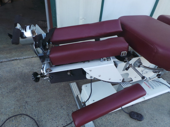 Used Zenith Cox 100  Flexion Table with PD, TD, AAD, & Burgundy Heritage