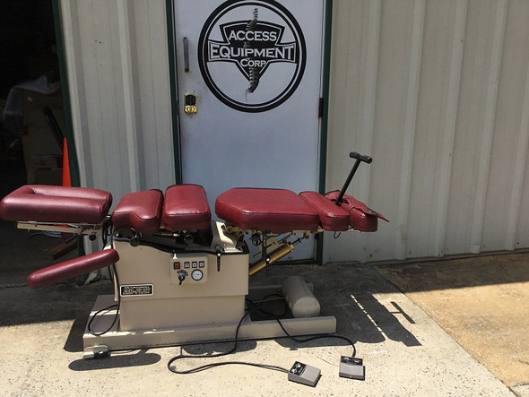 Used Hill  Air-Flex Deluxe Table -  Manual Flexion  5 drops