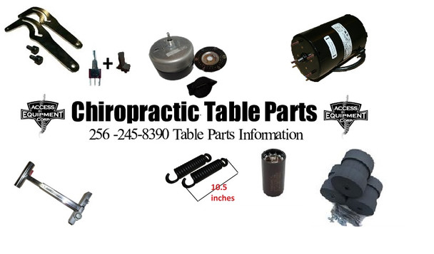 Chiropractic table parts