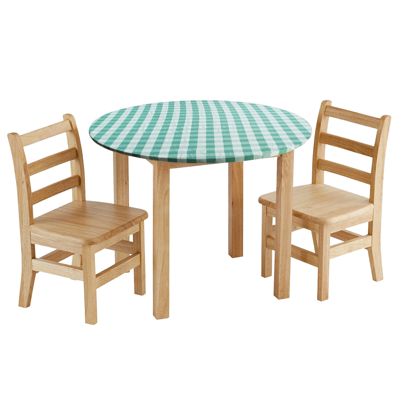 Large Round Table Cloth.Large Round Green Gingham Table Cloth