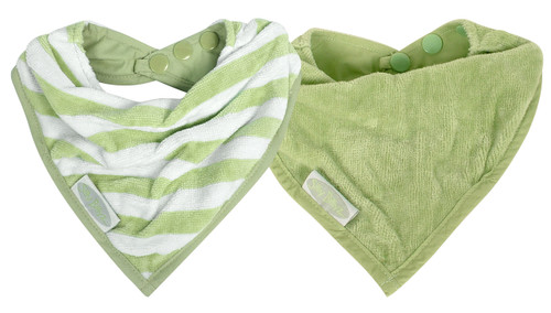 Made from organic cotton velour, these bibs are designed for babies with sensitive skin or eczema. This cool little Organic Bandana is water resistant, so it's ideal for dribbly bubs, who need to wear a bib most of the day.