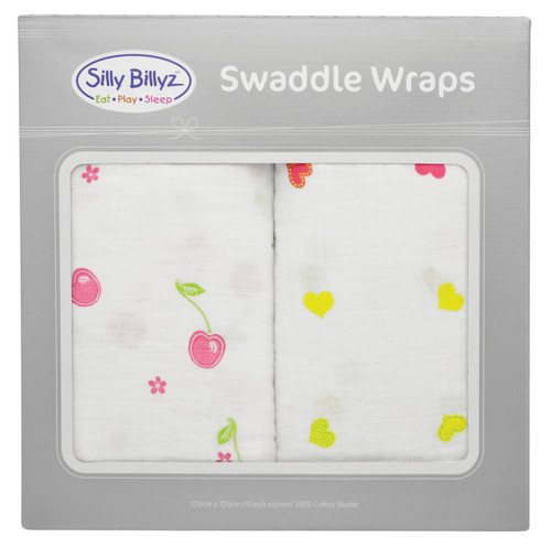 Made with pre-washed 100% cotton muslin in an extra-large 120 x 120 cm size, wrapping your newborn has never been easier.