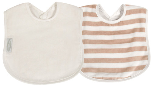 The fabulous Silly Billyz Organic Plain Large Bib is ideal for babies with skin allergies and has a double press stud closure to fit most sizes.  The beautifully soft and luxurious organic cotton is more durable than regular cotton so will last longer. Perfect for bottle or breast feeding  and also feeding solids. Stain resistant too!  Suggested Age: 6mths to 3 years     Dimensions:  24cm x 21cm