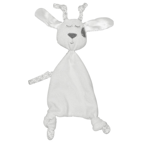 Made with a cotton velour front, designer jersey cotton backing and silky smooth ears there are plenty of different textures for little fingers to explore.
