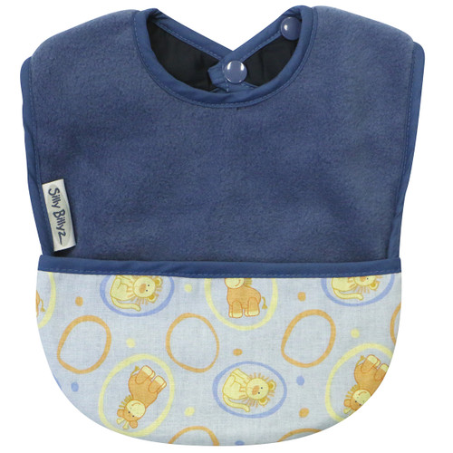 Two bibs in one! Super durable, easy wash and wear.