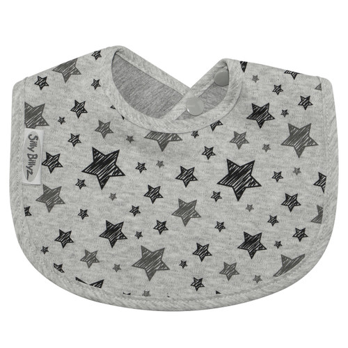 Silly Billyz waterproof biblets are sized just right to be baby's first feeding bib. Dimensions: 19cm x 25cm