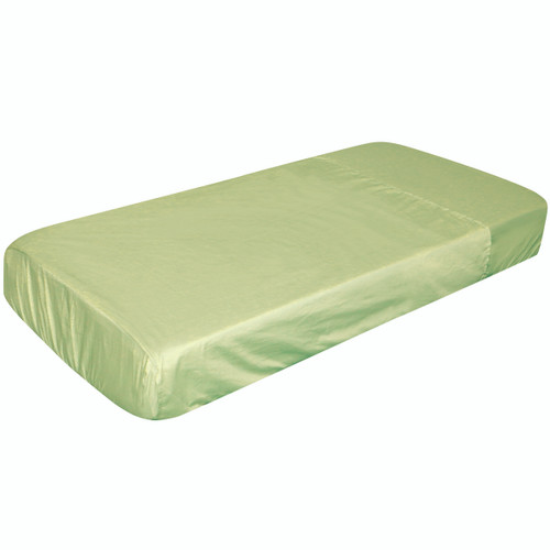 Size: 128 x 62 x 15cm Materials: 100% Polycotton Features: 1 piece fitted sheet and flat sheet joined at the bottom.
