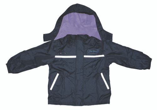 Lilac/Navy Waterproof Jacket