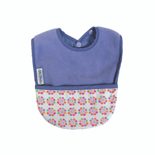 Lilac Pansy Fleece Pocket Bib