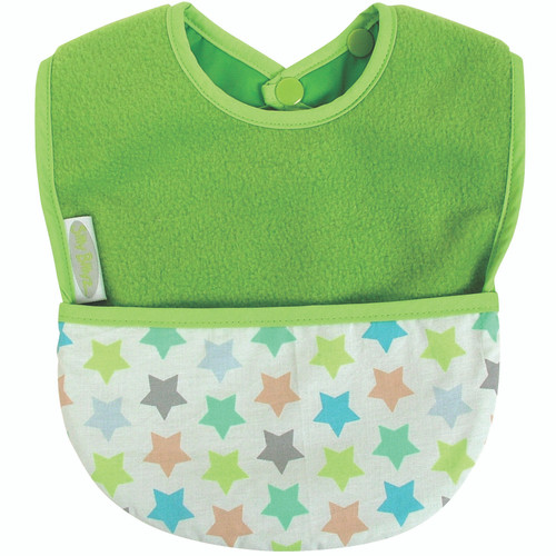 Lime Stella Fleece Pocket Bib