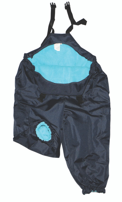 Aqua/Navy Waterproof Overalls [Extra Large]