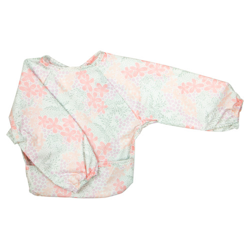 Wipe Clean Long Sleeve Bib Bloom