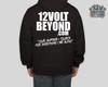 Black Hoodie with White Image / Text
