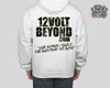 White Hoodie with Camoflauge Image / Text