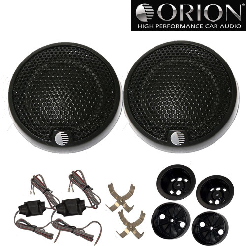 """Orion XTR1.00TW 1"""" Silk Dome Tweeters with Surface & Flush Mount Hardware, 300 Watts Max"""