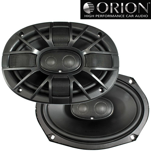 Orion XTR69.3 XTR Series 6x9 inch Car Audio 3-Way Coaxial Speakers, 4 ohms, 400 Watts Max