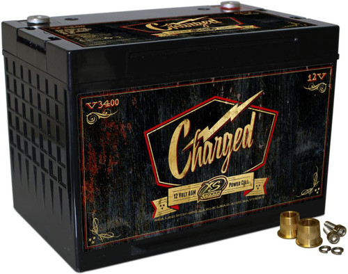 XS Power V3400 12V Retro Series Group 34 AGM Starting Battery, Max Amps 3,300A CA: 1,150A