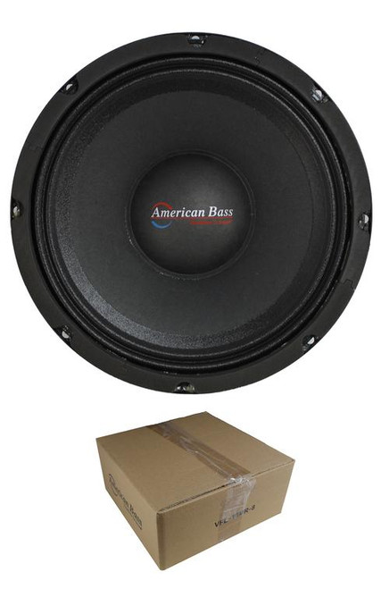 "American Bass VFL-10MR 10"" Shallow Midrange Speaker, VFL Series, 8 Ohm"