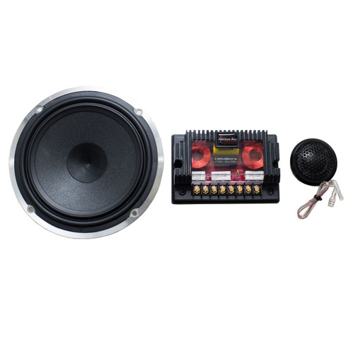 "American Bass Symphony 6.5 Component Speaker Set 6.5"" Components, 250 Watts Max, Cast Basket, Silk Dome Tweeters, and Crossovers. Clear and Accurate Bass Response"