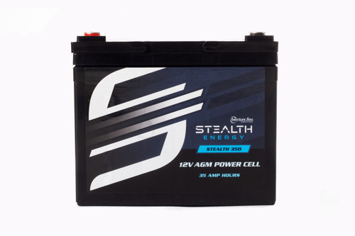 American Bass Stealth 350 - 12V AGM Battery, 35 AH, Up To 900 Watt Amplifiers