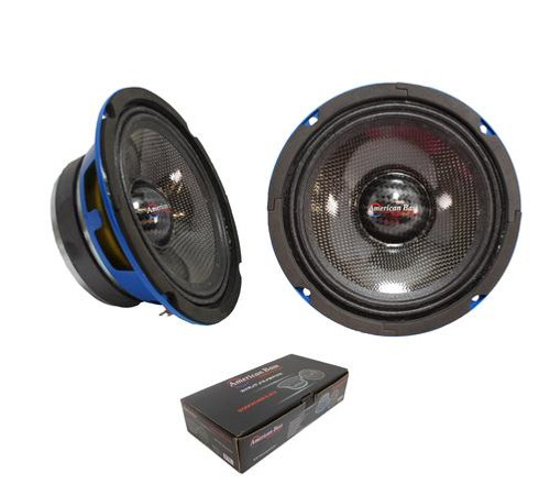 "American Bass Godfather 6.5CC - 6.5"" 400 Watt 4 Ohm Midrange Speakers, Carbon Fiber Cones"
