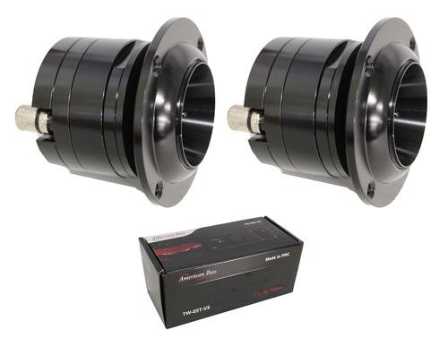 Pair of American Bass 300W 4 Ohm Aluminum Bullet Tweeter TW-05T-V2