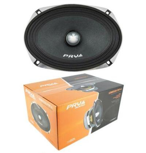 PRV Audio 69MR500PHP-4 500W 4 Ohm Midrange Midbass Loud Car Audio Speaker