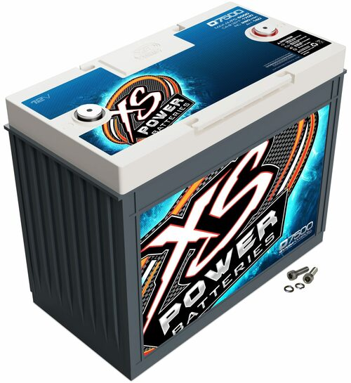 XS Power D7500 12V AGM Battery, Max Amps 6,000A, CA: 2050, Ah: 172, 5000W / 7500W