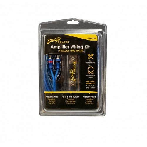 Stinger Select Wiring Kit with Ultra-Flexible Copper-Clad Aluminum Cables (4 Gauge)