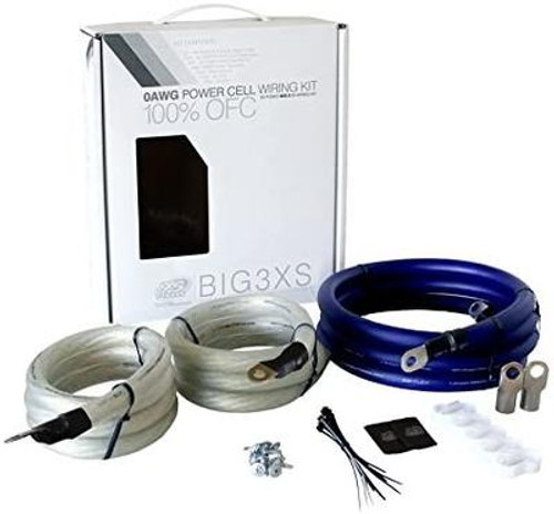 XS Power 350 Amp Big 3 Wiring Upgrade Kit 1/0 AWG 350A BIG3XS, 100% OFC