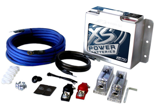 XS POWER XP750-CK - XP FLEX, 4 AWG 1000-1500W Install Kit and XP750 Battery Combo with 511 Mount