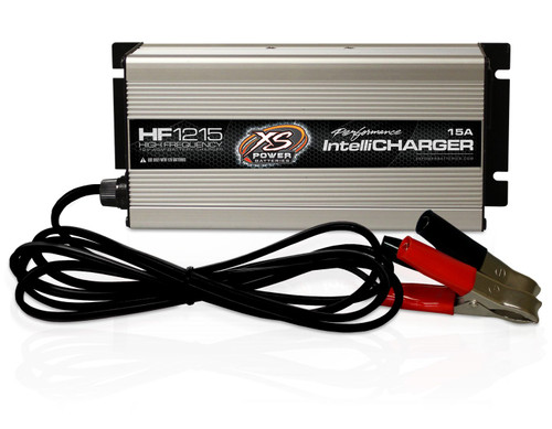 XS Power HF1215 12V High Frequency AGM Battery IntelliCharger, 15A