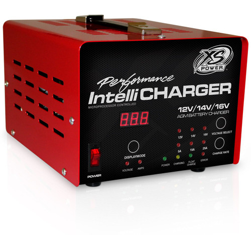 XS Power 1005-E 12/14/16V AGM Battery IntelliCharger, 5A, 15A, 25A