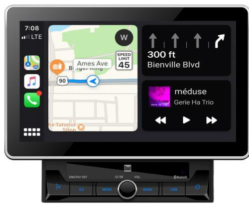 "Dual DMCPA11BT 10.1"" Media Receiver w/ Apple CarPlay & Android Auto"