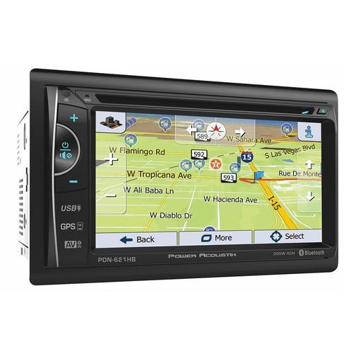 """Power Acoustik 6.2"""" Bluetooth Radio CD/DVD MP3 USB Double Din Touch Screen Navigation MHL"""