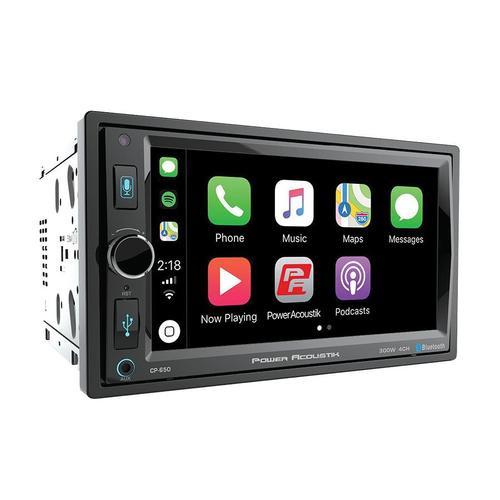"Power Acoustik 6.5"" Bluetooth Radio AM/FM MP3 USB Apple CarPlay Double Din LCD Touch Screen"