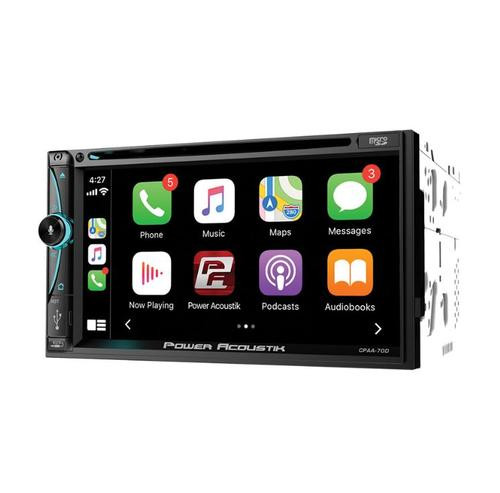 """Power Acoustik 7"""" Bluetooth Radio AM/FM MP3 USB Apple Car Play Double Din LCD Touch Screen CPAA-70D"""