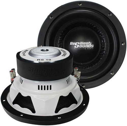 Resilient Sounds RS 10, 500 RMS, Entry Level Subwoofer, Dual 4 Ohm