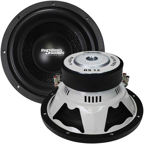 """Resilient Sound RS 12, 500 Watts RMS, Entry Level 12"""" Subwoofer, Dual 4 Ohm"""