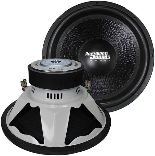 Resilient Sounds RS 15, 500 Watts RMS, Entry Level Subwoofer, Dual 4 Ohm