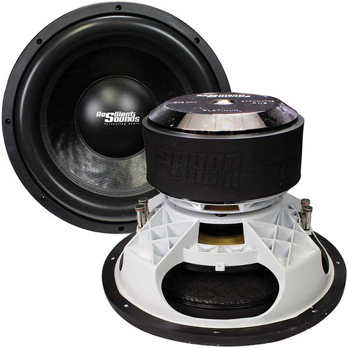 "Resilient Sounds Platinum 15"" Competition Subwoofer, 2000W RMS, 4000W Max, Dual 1 Ohm Voice Coil"