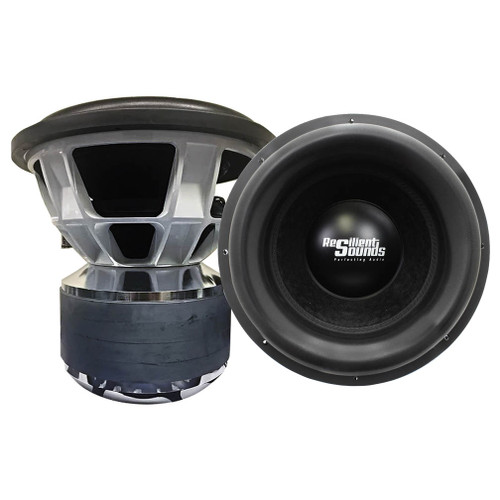 Resilient Sounds TEAM 15 D1 Subwofoer (5K RMS Driver) Conservative Rated