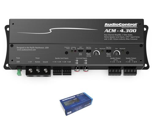 AudioControl 4 Channel 2 Ohm Stable Micro Class D Motorcycle Amplifier ACM-4.300
